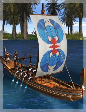 Ancient Egyptian Canal Boat