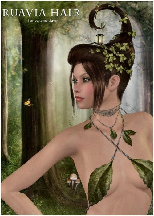 Ruavia Hair for V4, Dawn