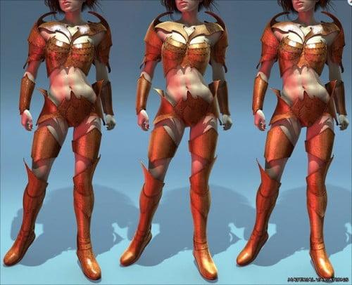 Tenera Morphing Armor for Genesis 2 Female(s)
