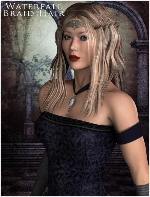 Waterfall Braid Hair V4 & Dawn
