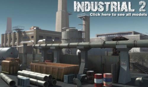 Industrial 2. model pack by DEXSOFT-GAMES