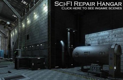 Sci-Fi Repair Hangar by DEXSOFT-GAMES