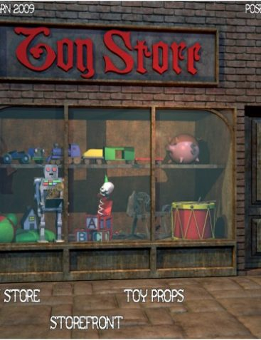 Toy Store Window with Toys