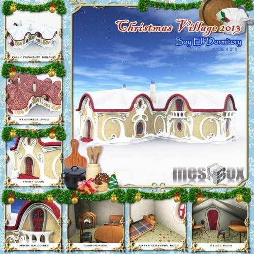 Christmas Elf Boy Dormitory - Christmas Village 13