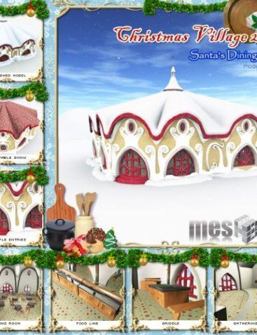 Santa's Dining Hall - Christmas Village 13