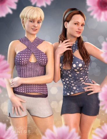 Casual Halter and Shorts Textures