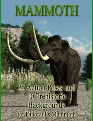 Mammoth Poses and Prehistoric Backgrounds