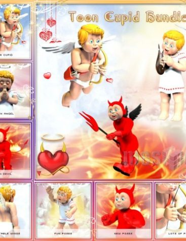 Toon Cupid Bundle: Cupid, Angel and Devil