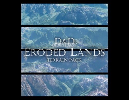 D and D Creations - Eroded Lands Terrain Pack