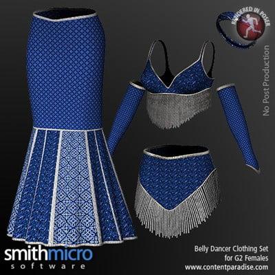 Belly Dancer Clothing Set for G2 Females