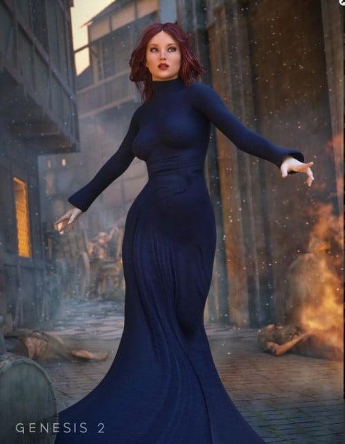 Morphing Fantasy Dress for Genesis 2 Female(s)