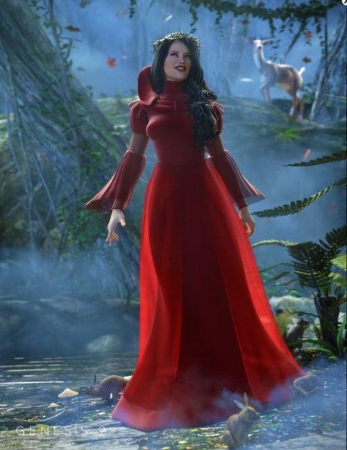 Morphing Fantasy Dress Exp 1 for Genesis 2 Female(s)