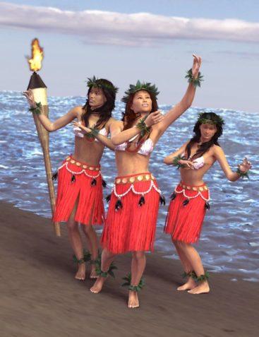 Hula Kahiko Poses for Gen4 and Genesis