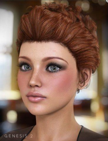 Sultry Hair for Genesis and Genesis 2 Females