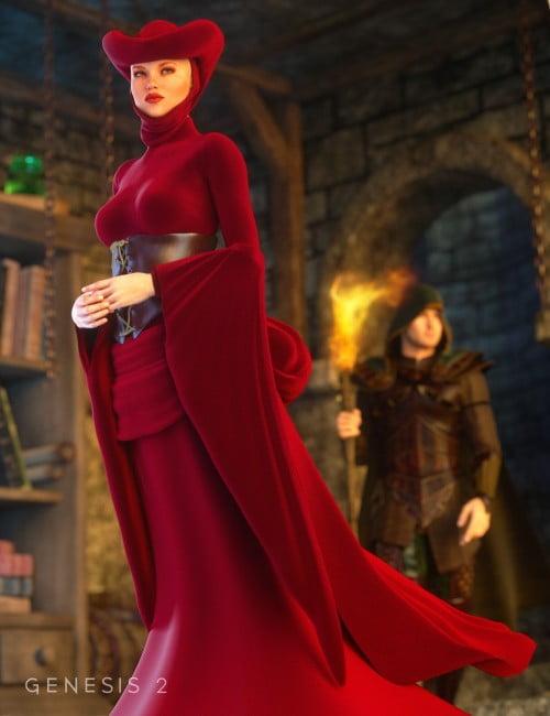 Morphing Fantasy Dress Exp 2 for Genesis 2 Female(s)