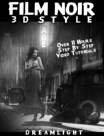 Film Noir 3D Style - Back To Black & White