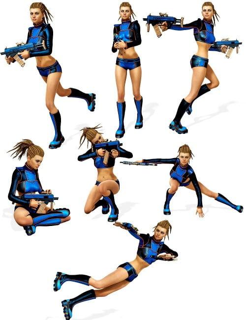 01-ir-xtech-poses-combat-guns-fight-daz3d