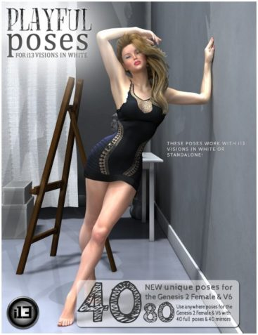 i13 Playful Poses for Visions in White