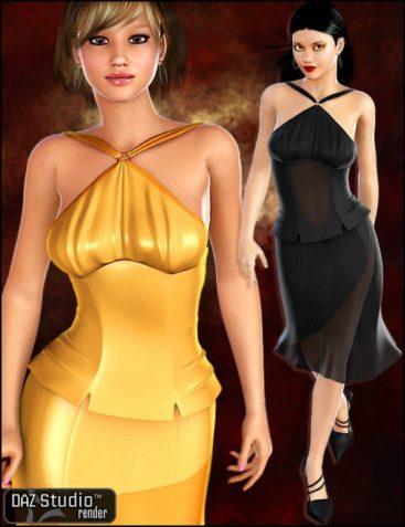 Uptown Halter Dress Textures