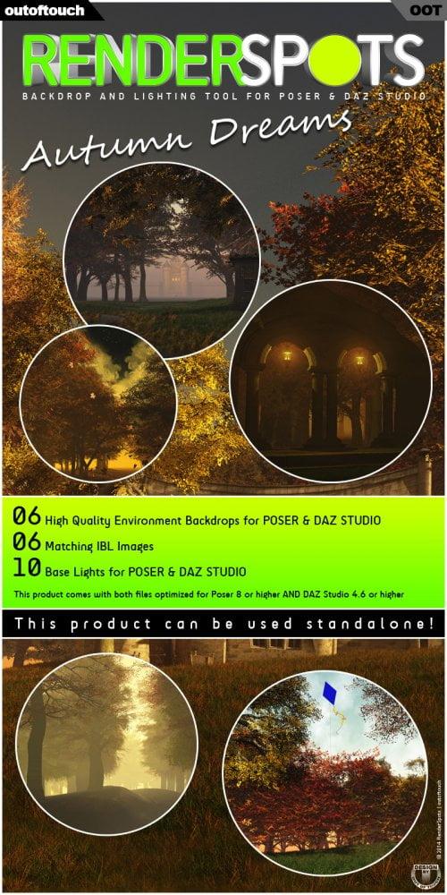 RenderSpots Autumn Dreams for Poser and DAZ Studio