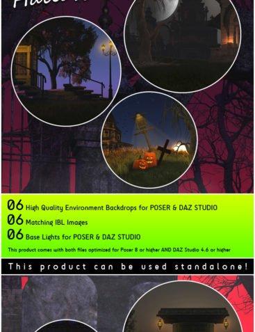 RenderSpots Halloween 2014 for Poser and DAZ Studio