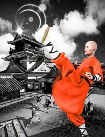 Mec4D Shaolin Monk Uniform for Genesis 2 Male(s)