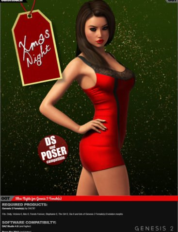 XMas Night for Genesis 2 Female(s)