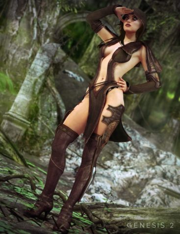 Sherwood Huntress Outfit For Genesis 2 Female(s)