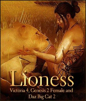 Lioness for V4, G2F & Daz Big Cat 2
