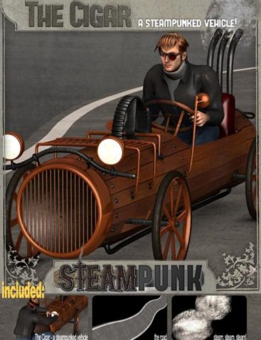 Steampunk : The Cigar - a steampunked vehicle