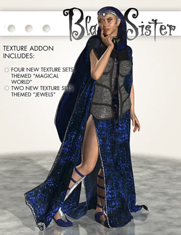 BlackSister texture addon for Michelle and Victoria 4