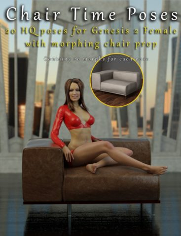 Chair Time Poses for Genesis 2 Female(s) with Morphing Chair