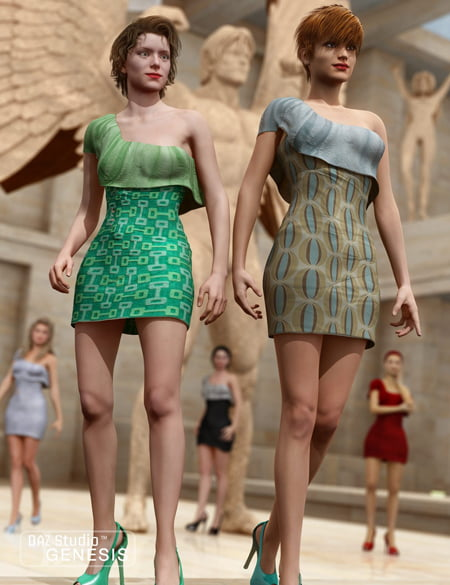 Hip Retro Dress Textures