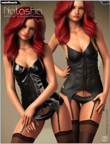 Natasha's Bustier Set for Genesis 2 Female(s)