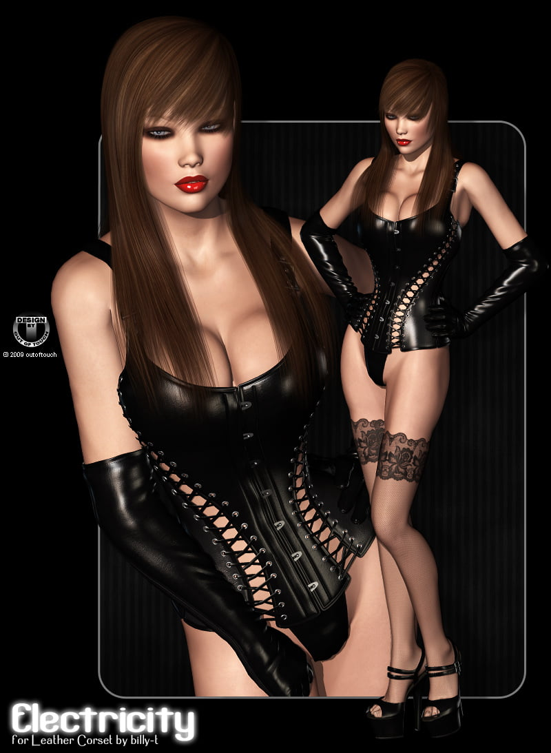 ELECTRICITY for V4 Leather Corset by billy-t