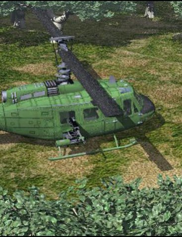 Huey Type Helicopter (Poser, Vue & OBJ)