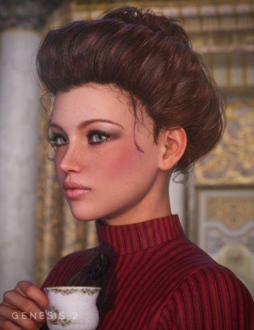 Edwardian Hair for Genesis and Genesis 2 Females