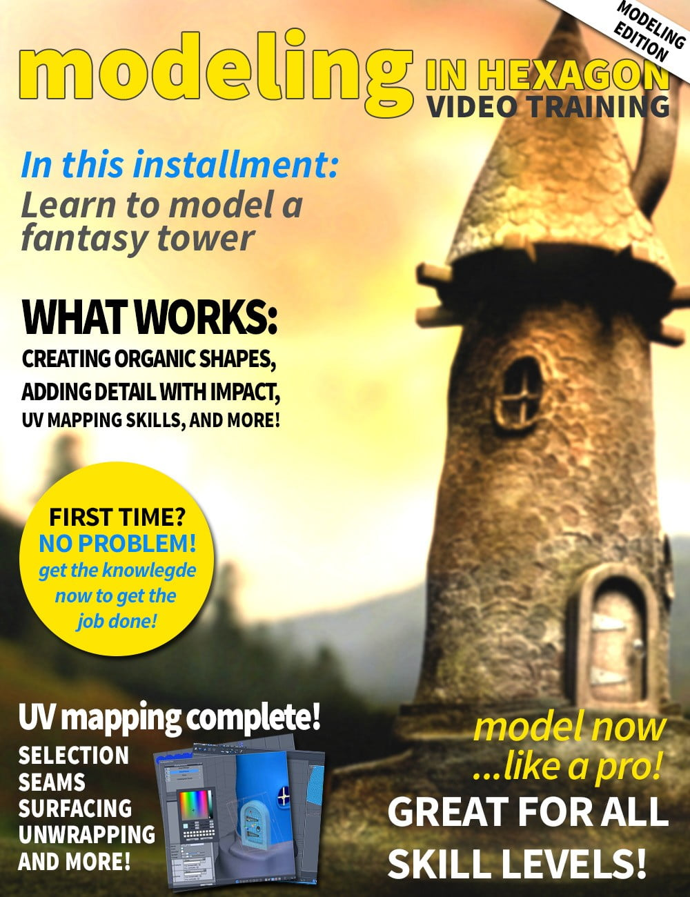 00-main-hexagon-modeling-fantasy-tower-daz3d