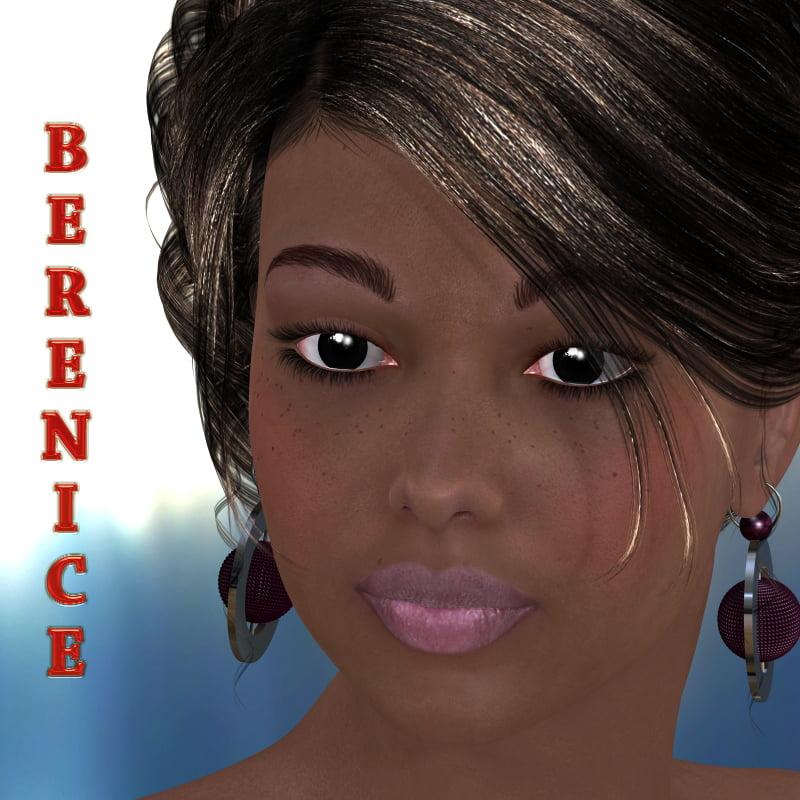 Berenice for V4 - character, daz-poser-carrara