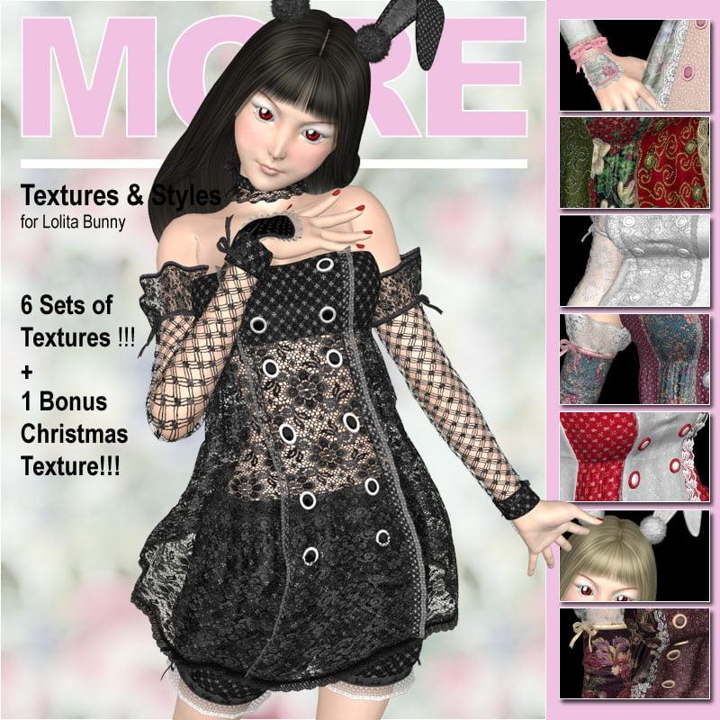 MORE Textures & Styles for Lolita Bunny - clothing, daz-poser-carrara