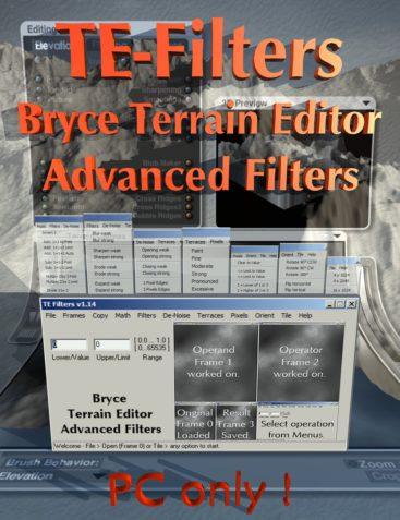 Bryce Terrain Editor Advanced Filters