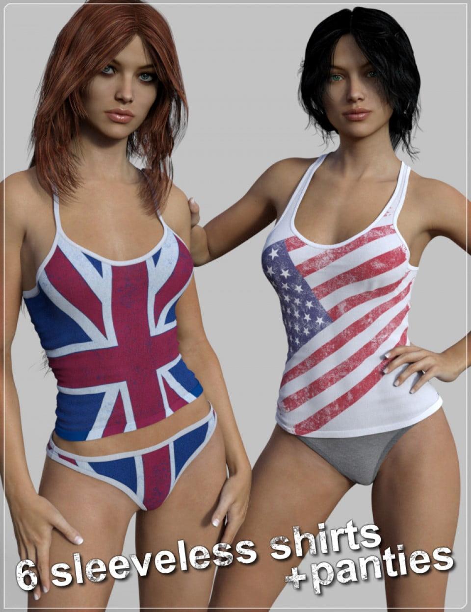 FM Tank-top & Panties Pack for Genesis 3 Female(s)