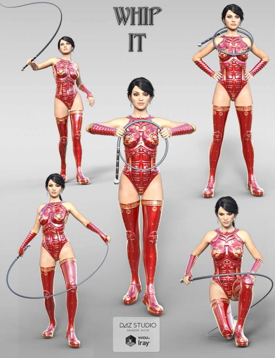 Whip and Poses for Genesis 3 Female(s)
