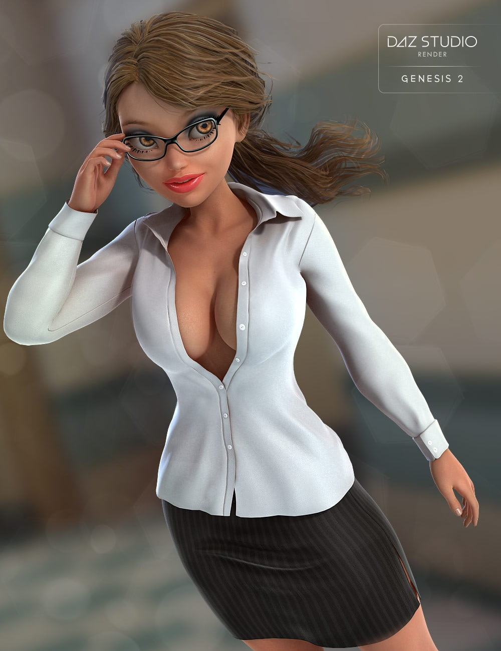 Sexy Librarian for Genesis 2 Female(s)