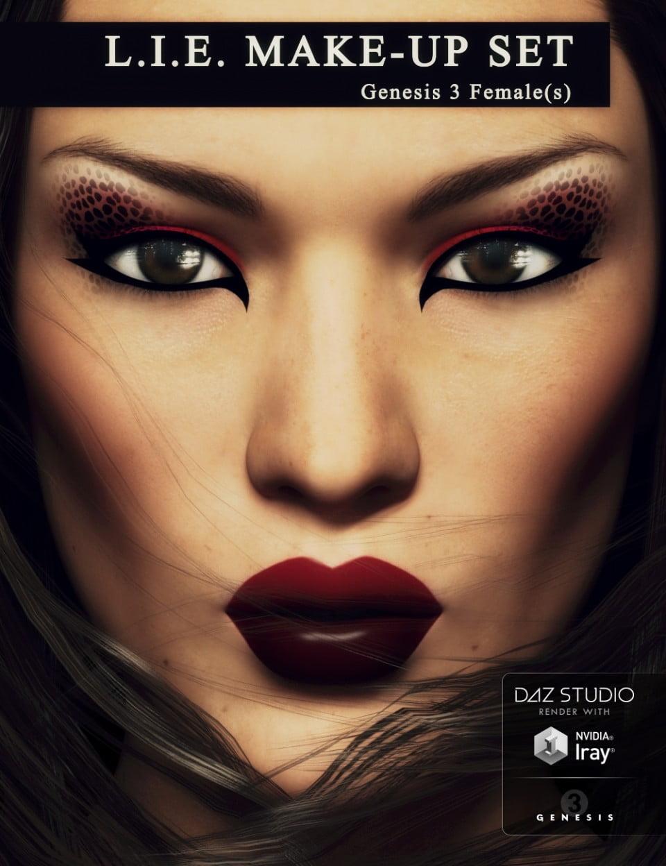 L.I.E Make-up Set for Genesis 3 Female(s)