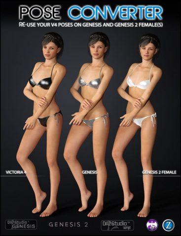 V4 Pose Converter for Genesis and Genesis 2 Female(s)