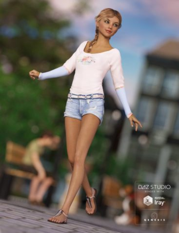 Summer Trend Outfit for Genesis 3 Female(s)
