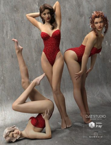 The Spirit of '45 - Pinup Poses for Genesis 3 Female(s)