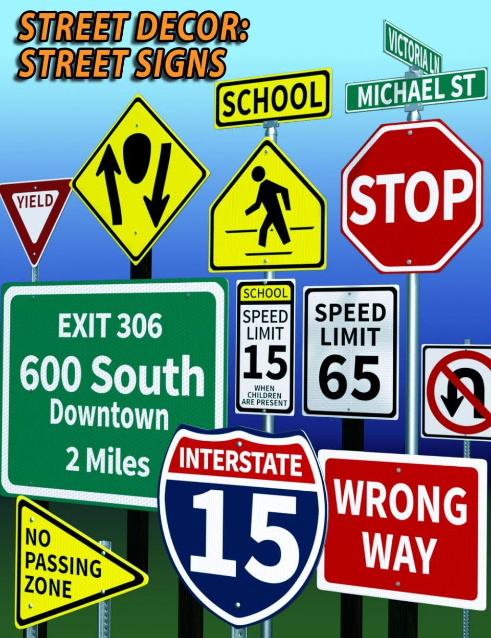 Street Decor - Street Signs