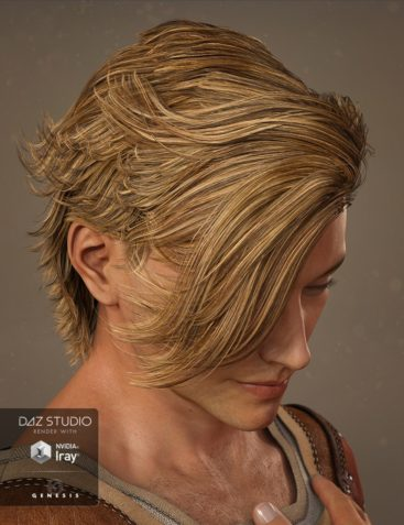 Mathew Hair for Genesis 3 Male(s) and Genesis 2 Male(s)